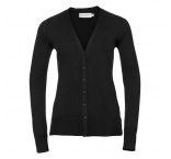JZ715F.03.0 - 715F•Ladies` V-Neck Knitted Cardigan
